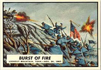 Topps Civil War Trading Card Burst of Fire